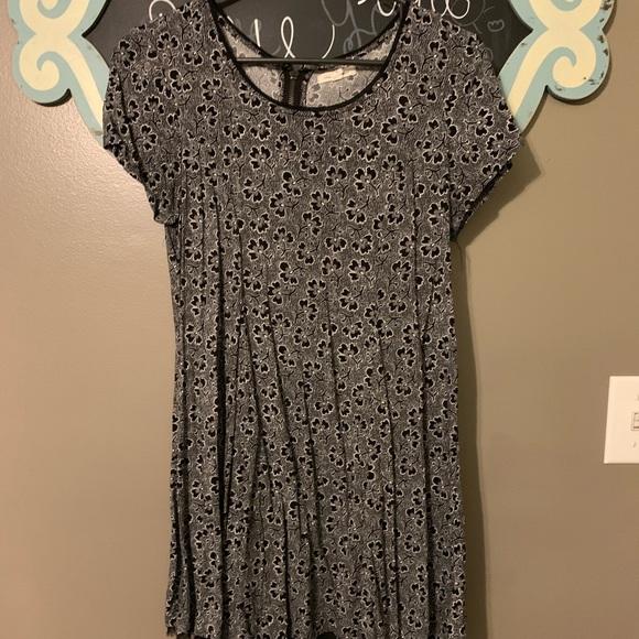 silence + noise Dresses & Skirts - Mini black dress with flower detail